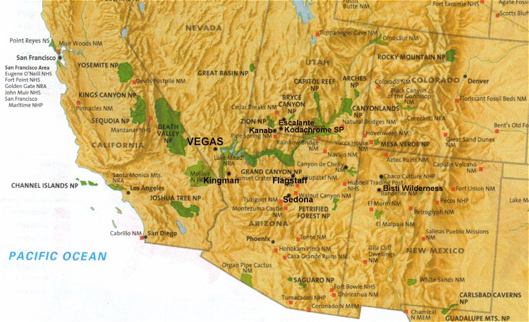 Road Map Of Southwest Usa Maps Usa Map Images